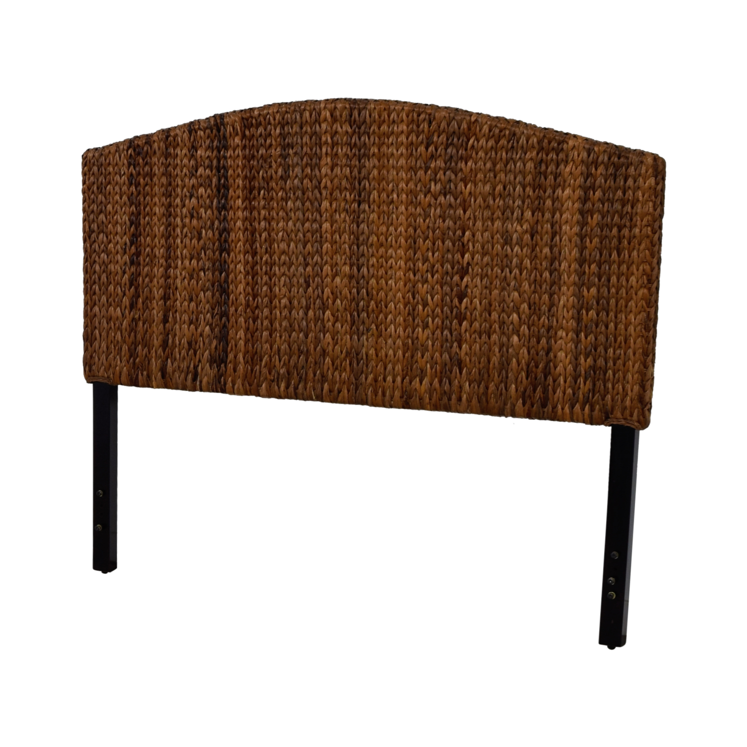 buy Espresso Banana Leaf Woven Queen Headboard  Beds