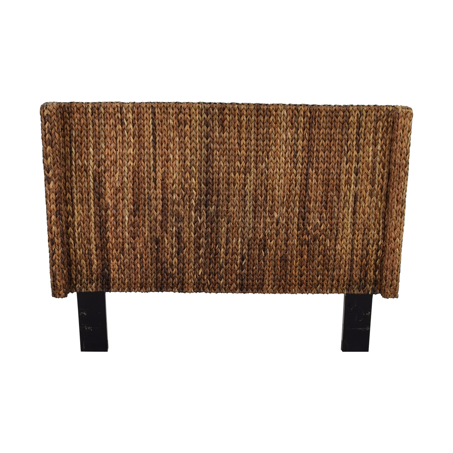 Mudhut Andres Seagrass Wingback Queen Headboard