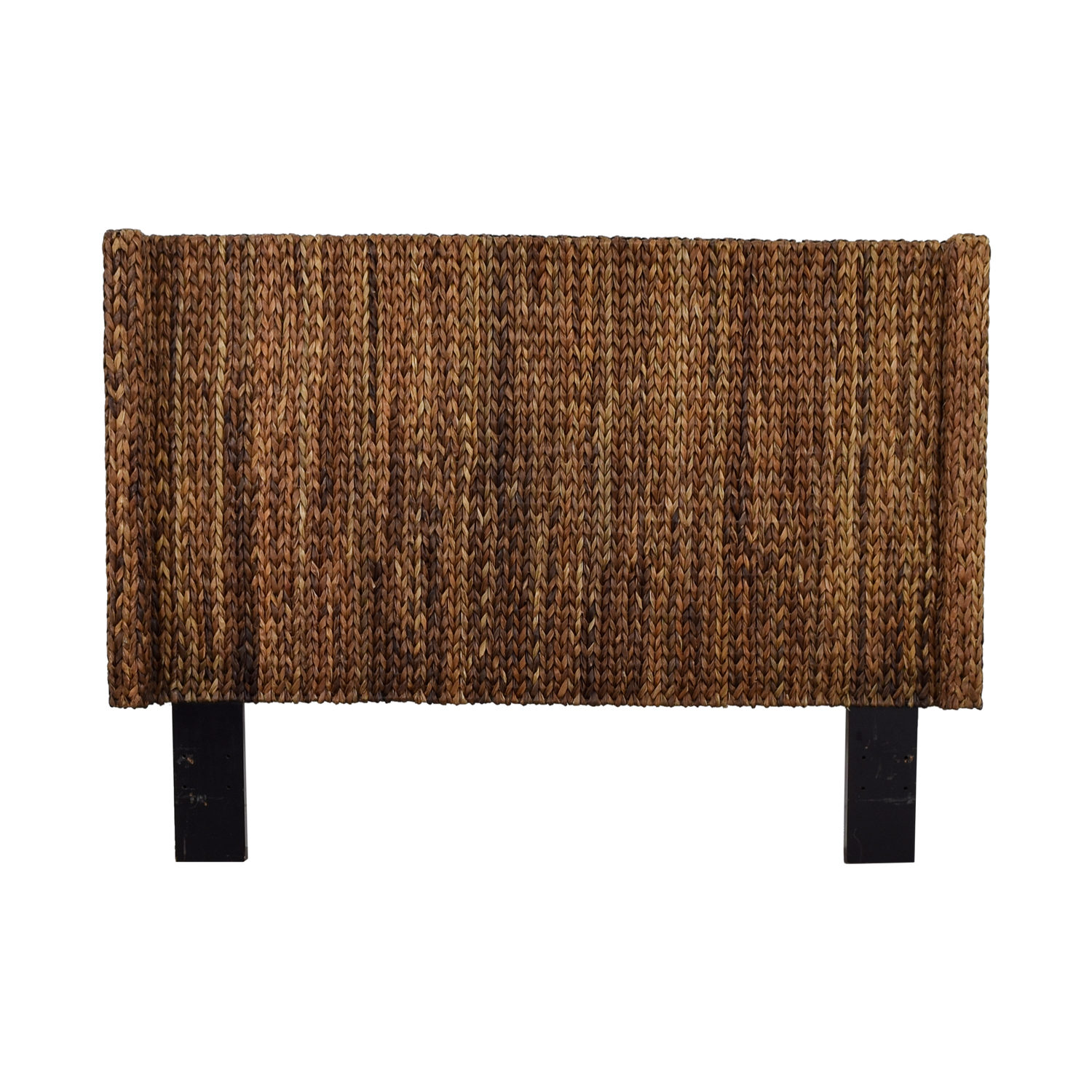 Mudhut Andres Seagrass Wingback Queen Headboard nj