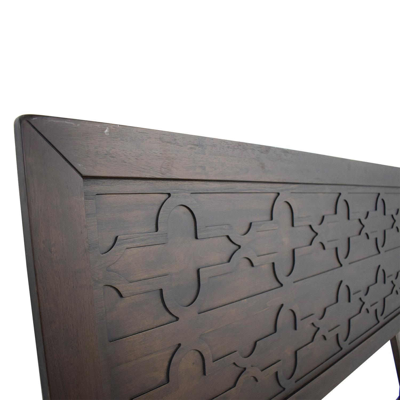 Rubberwood Veneer Carved Queen Headboard