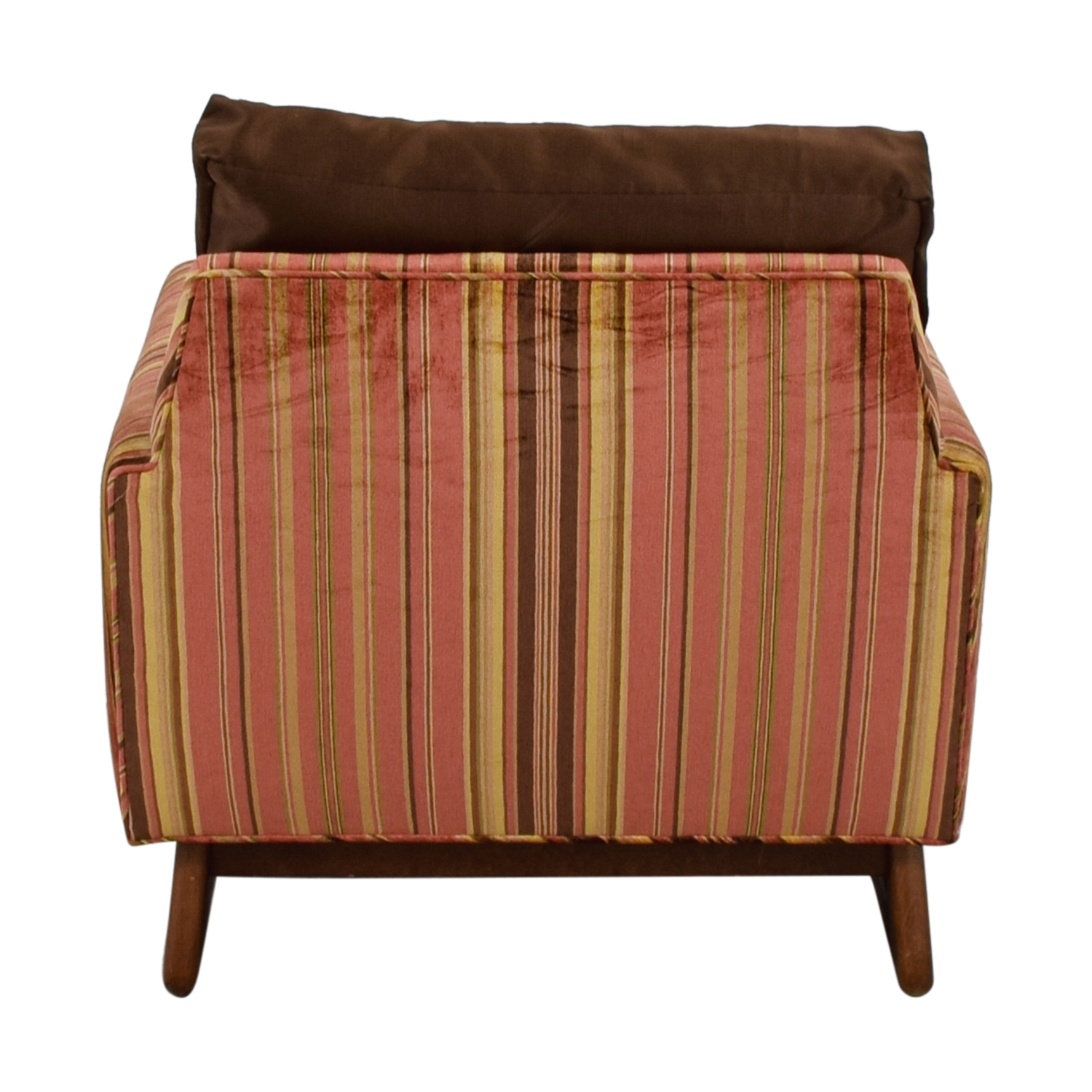 Adrian Pearsall Red and Yellow Striped Accent Chair / Chairs