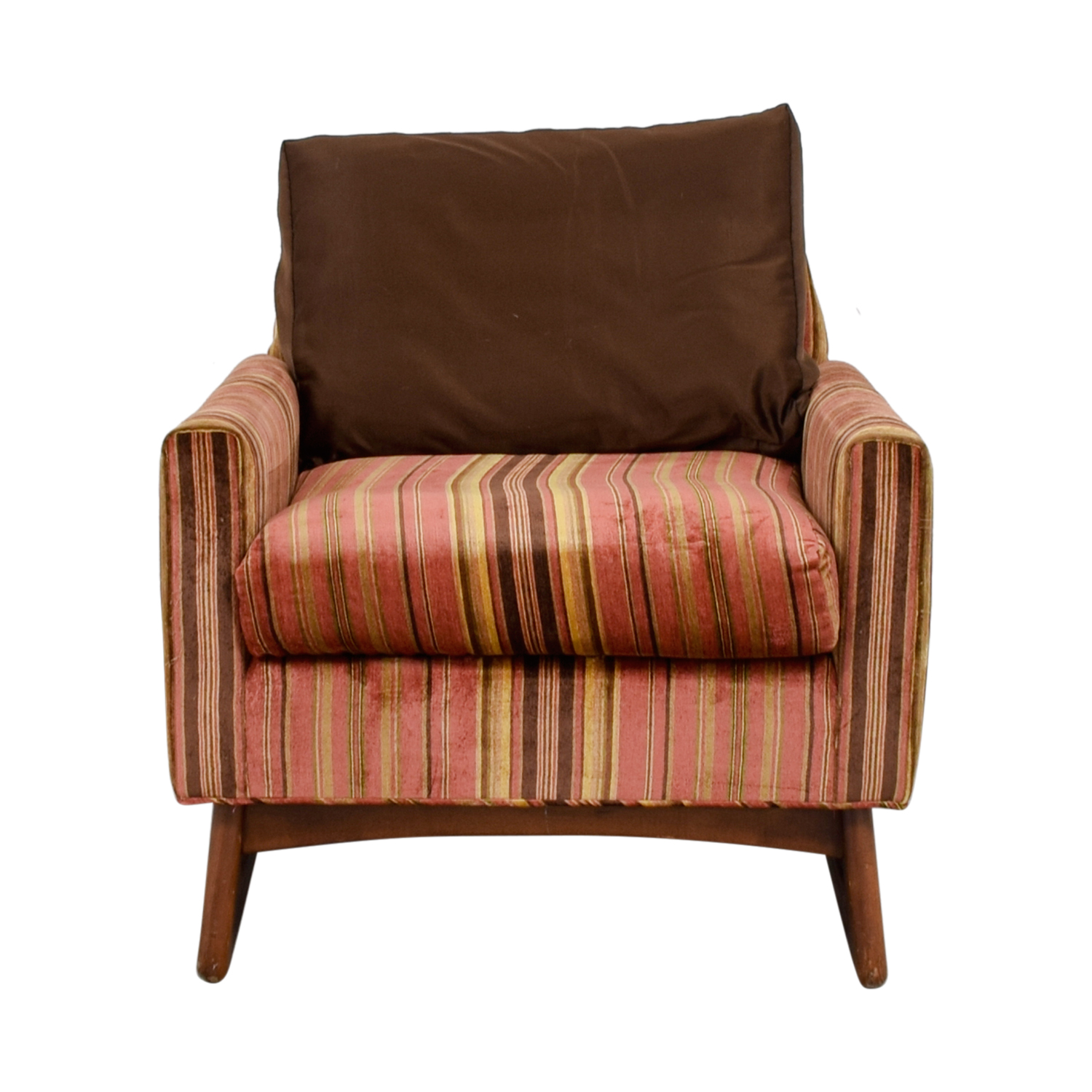 Pleasing 89 Off Adrian Pearsall Adrian Pearsall Red And Yellow Striped Accent Chair Chairs Short Links Chair Design For Home Short Linksinfo