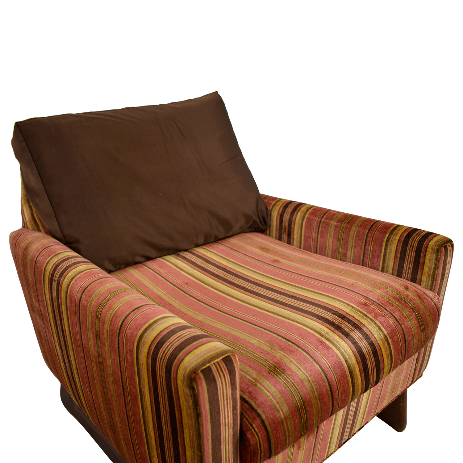 Sensational 89 Off Adrian Pearsall Adrian Pearsall Red And Yellow Striped Accent Chair Chairs Short Links Chair Design For Home Short Linksinfo