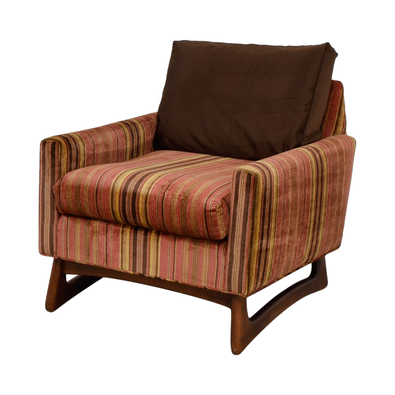 Strange 89 Off Adrian Pearsall Adrian Pearsall Red And Yellow Striped Accent Chair Chairs Short Links Chair Design For Home Short Linksinfo
