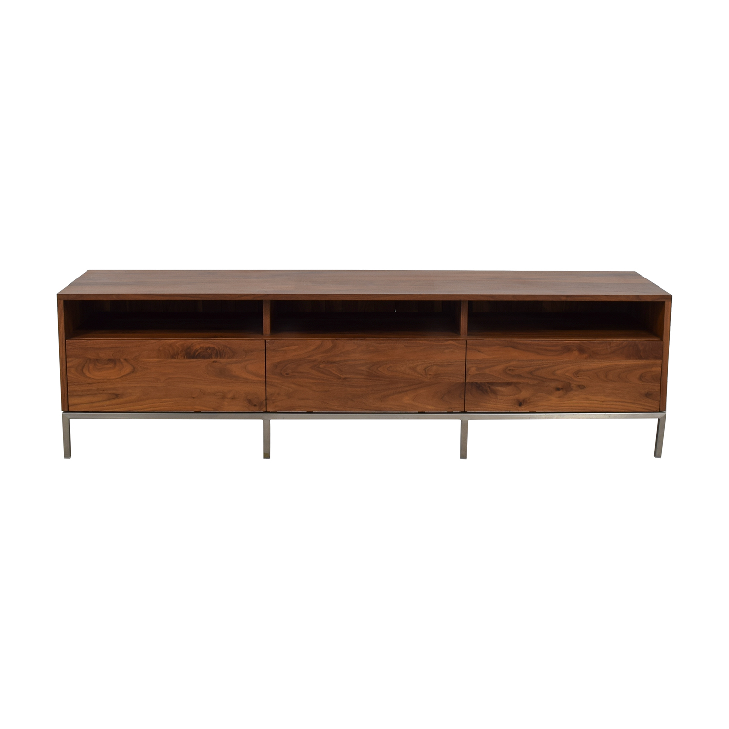 Shop Crate Barrel Pearson Wood Media Console