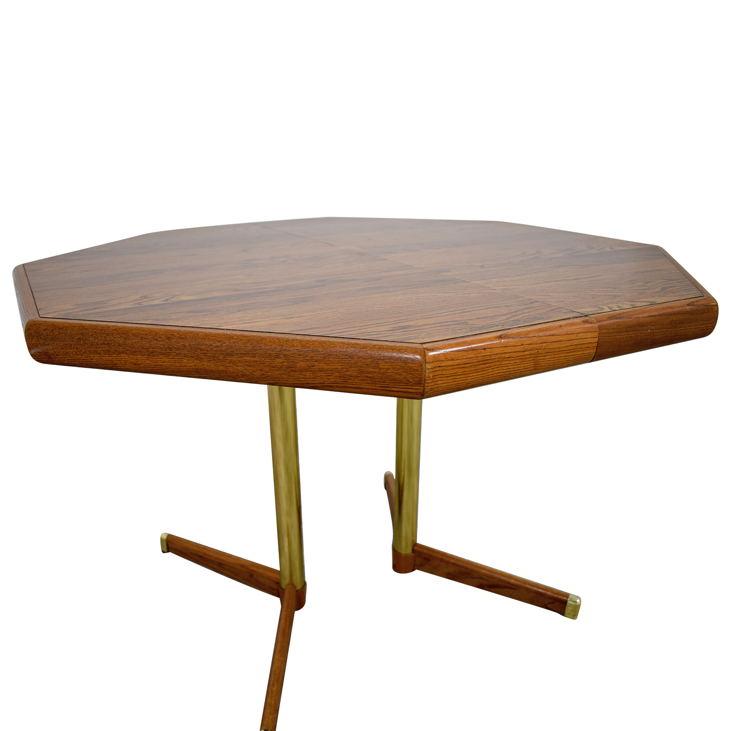 80% OFF - Octagon Kitchen Table with Leaf / Tables