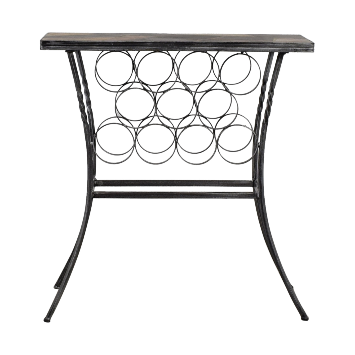 buy Wine Rack Table with Stone Top  Tables