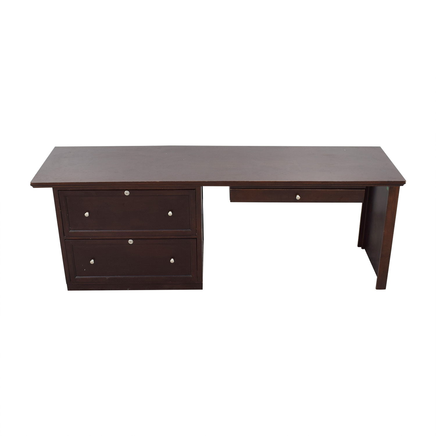 buy Bassett Large Executive Espresso Desk Bassett