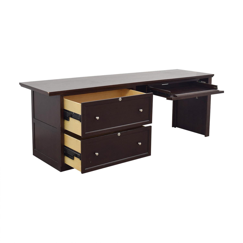 Bassett Bassett Large Executive Espresso Desk nj
