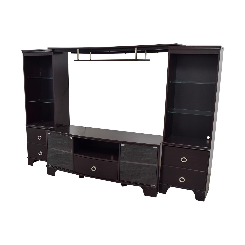 Ashley Furniture Espresso Entertainment Center Storage