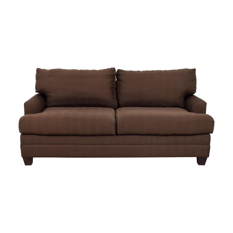 shop Bassett Chocolate Couch Bassett