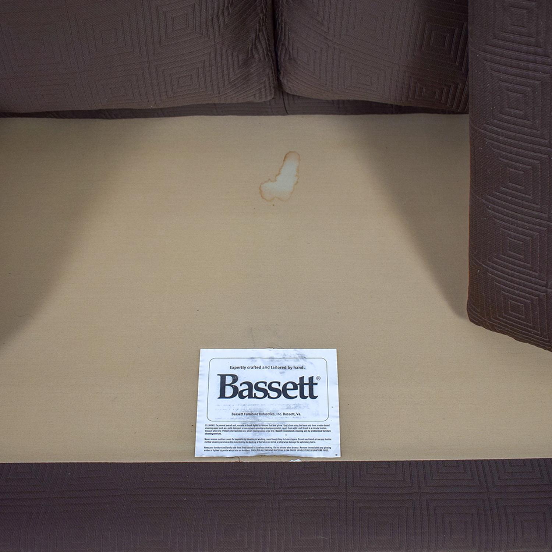 Bassett Chocolate Couch Bassett
