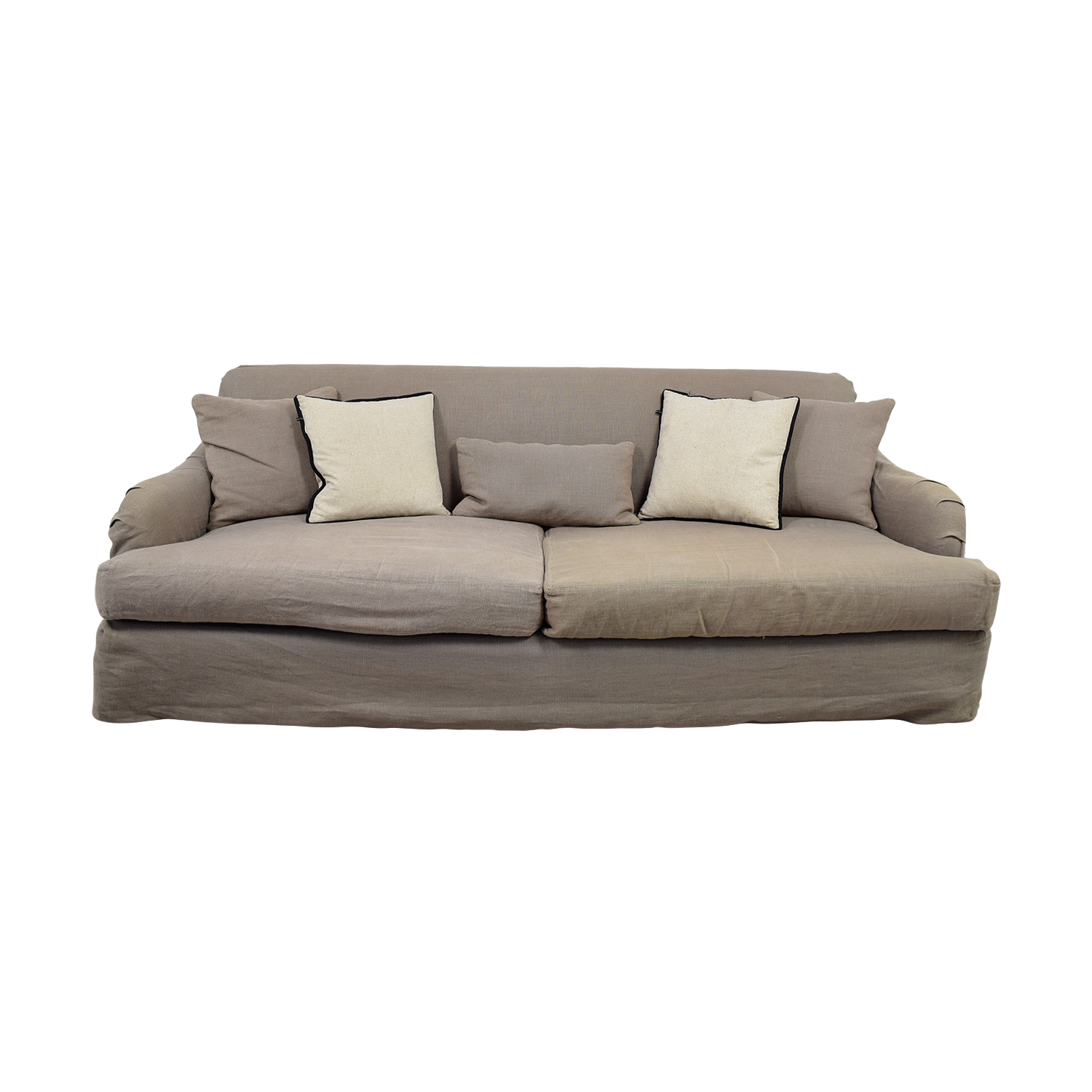 promo code b05d9 d12fe 90% OFF - Cisco Brothers Cisco Brothers Grey Linen Down Feather Filled Sofa  / Sofas