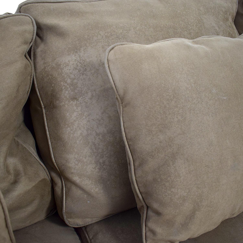 Macy's Brown Microfiber Three-Cushion Couch sale