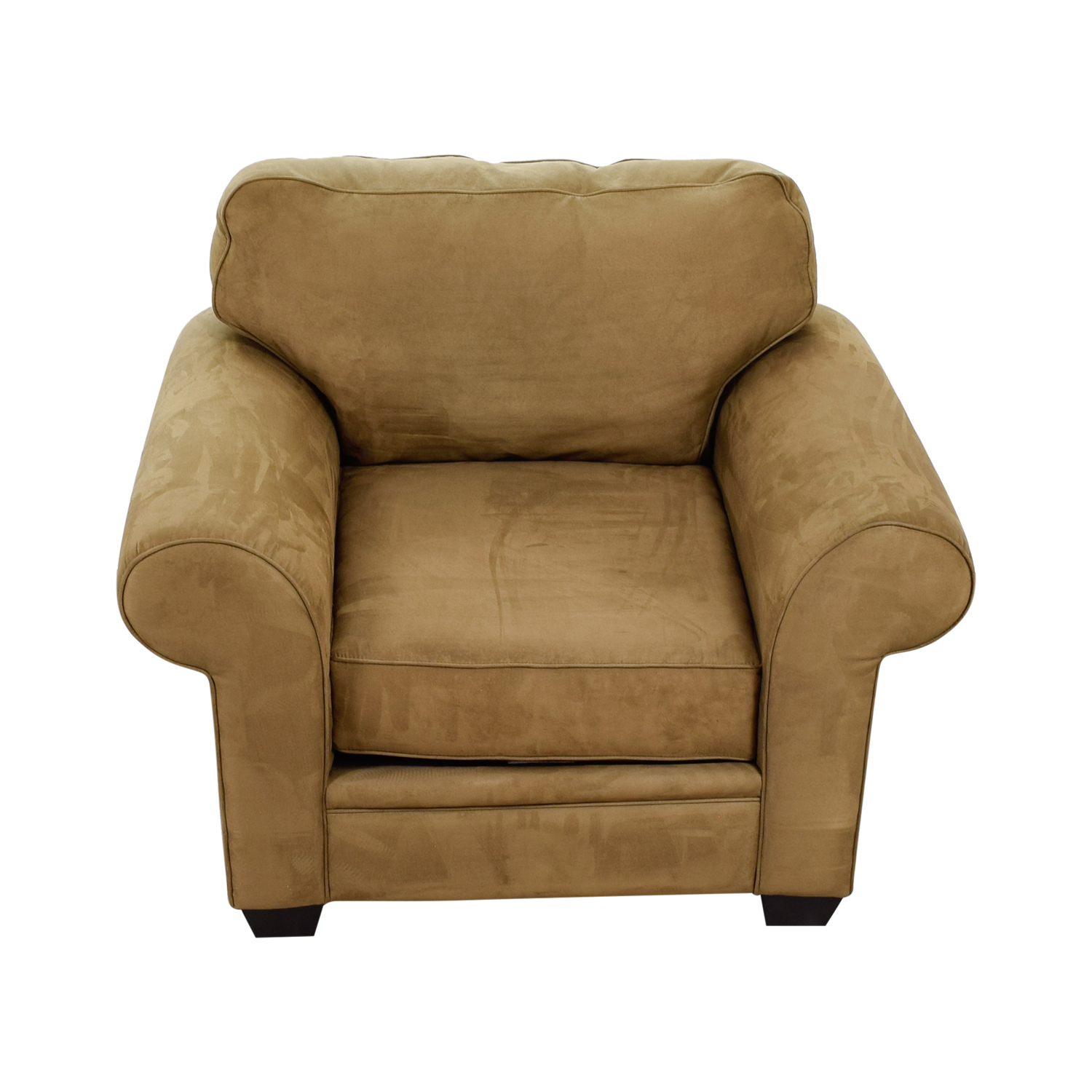 Macy's Macy's Tan Oversized Armchair Accent Chairs