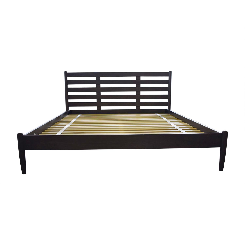 Crate & Barrel Crate & Barrel Barnes Platform King Bed Frame discount