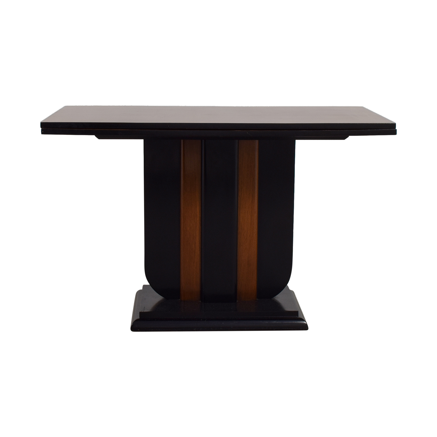 Art Deco Expanable Dining Room Table brown