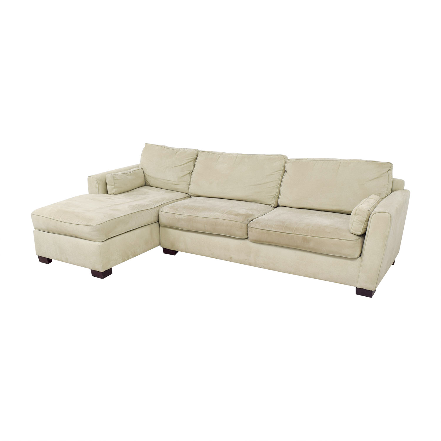 buy Bloomingdale's Beige Chaise Sectional Bloomingdale's Sectionals