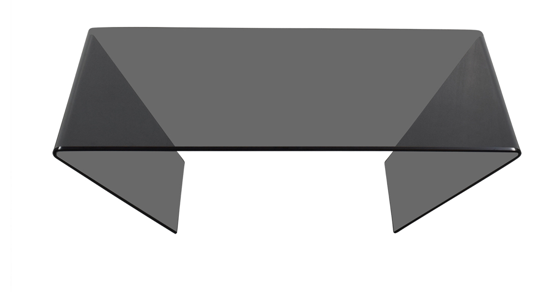shop J & M Furniture J & M Furniture Bent Black Glass Coffee Table online