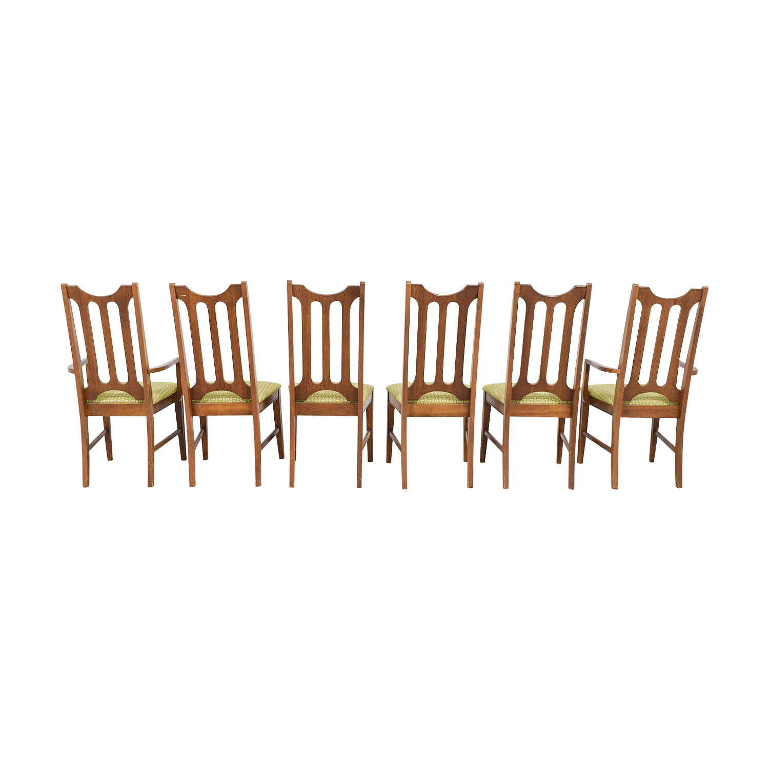 Bassett Furniture Bassett Furniture Mid-Century Green Upholstered Dining Chairs discount