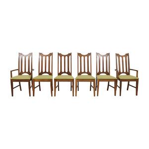 shop Bassett Furniture Bassett Furniture Mid-Century Green Upholstered Dining Chairs online
