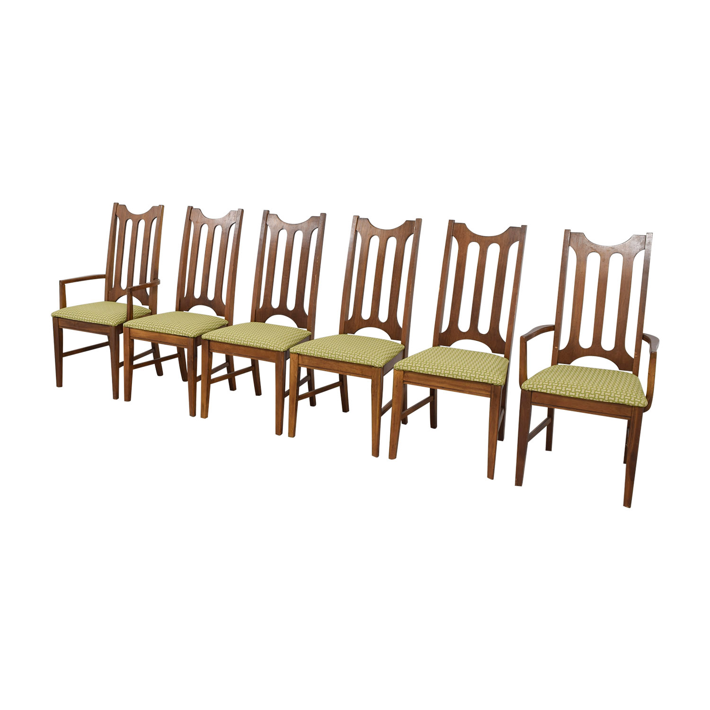Bassett Furniture Bassett Furniture Mid-Century Green Upholstered Dining Chairs dimensions