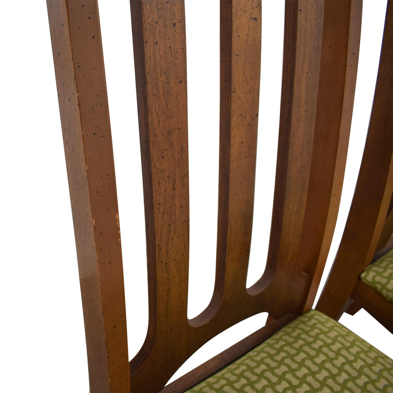 Bassett Furniture Bassett Furniture Mid-Century Green Upholstered Dining Chairs coupon