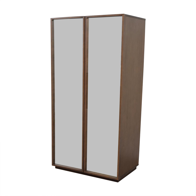 64% OFF - CB2 CB2 Mirrored Wardrobe Armoire / Storage