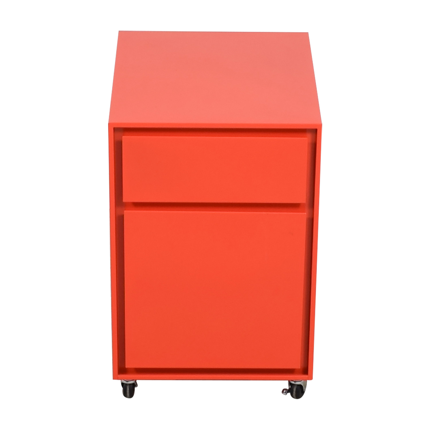 Crate & Barrel Paprika Pilsen File Cabinet Crate & Barrel