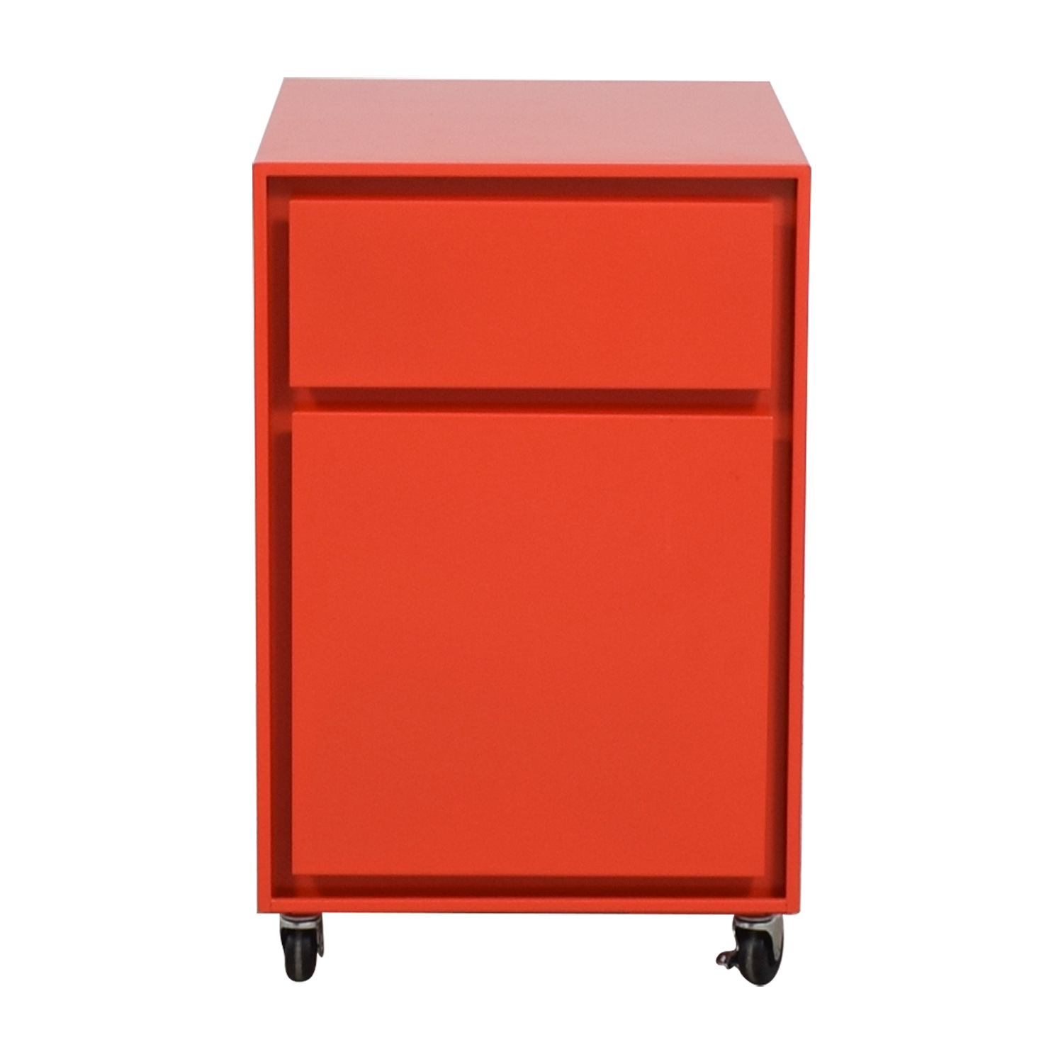 shop Crate & Barrel Paprika Pilsen File Cabinet Crate & Barrel Storage