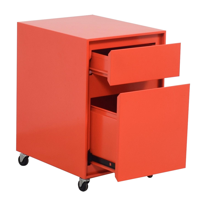 ... Shop Crate U0026 Barrel Crate U0026 Barrel Paprika Pilsen File Cabinet Online  ...