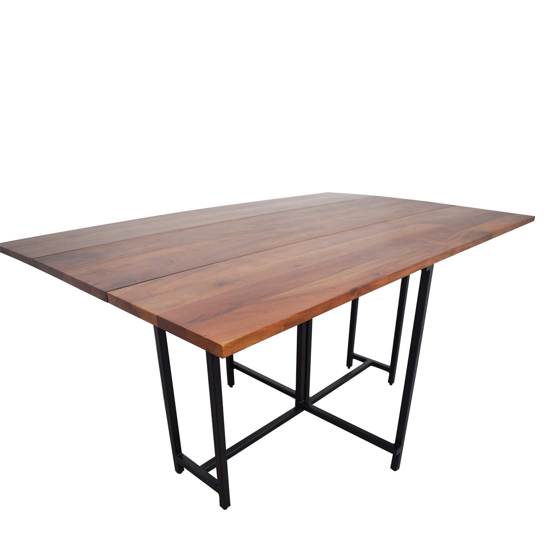 Crate Barrel Table: Crate & Barrel Crate & Barrel Origami Extendable