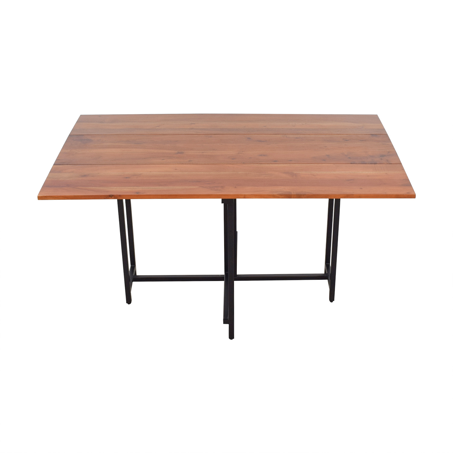 Crate & Barrel Crate & Barrel Origami Extendable Leaf Table nj