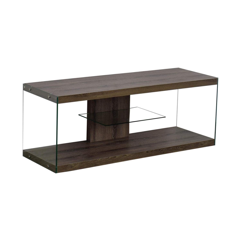 Monarch Specialties Monarch Specialties Wood and Metal TV Stand discount