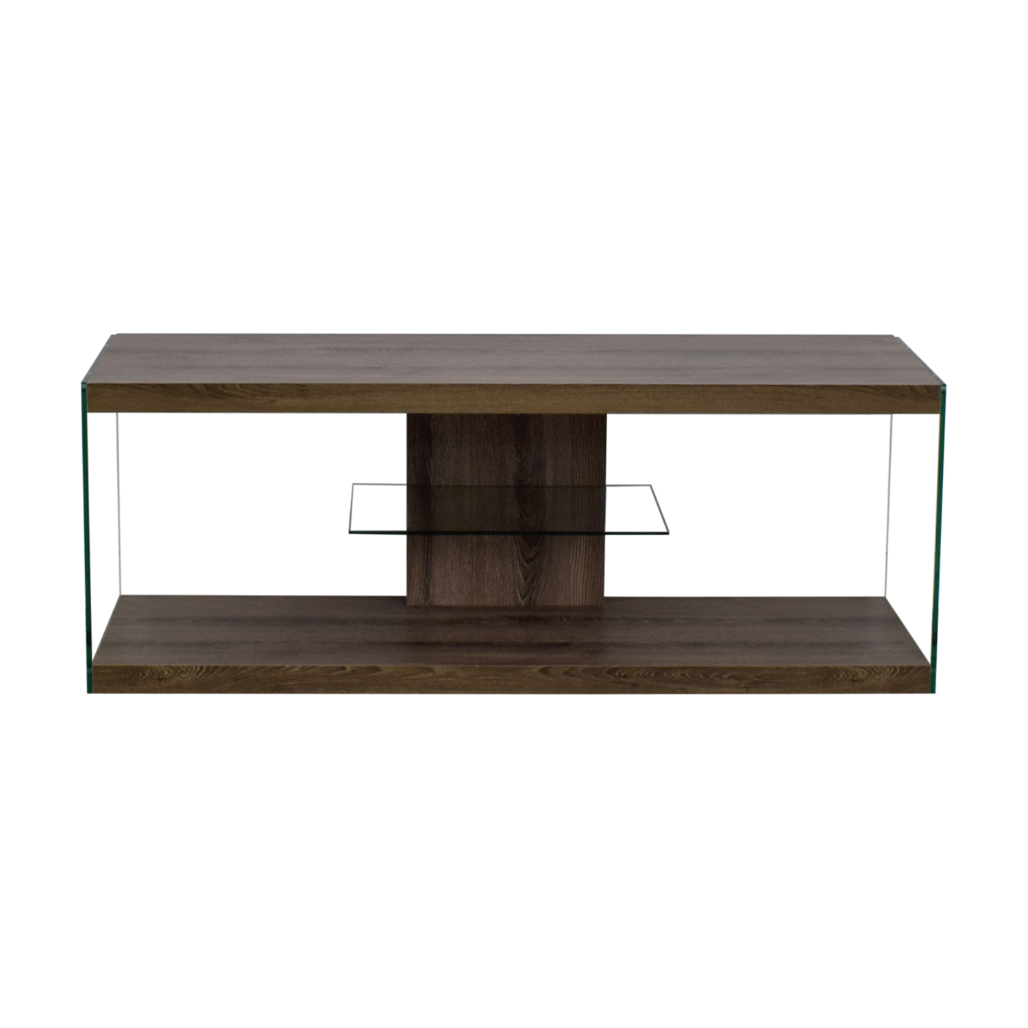 shop Monarch Specialties Wood and Metal TV Stand Monarch Specialties Sofas