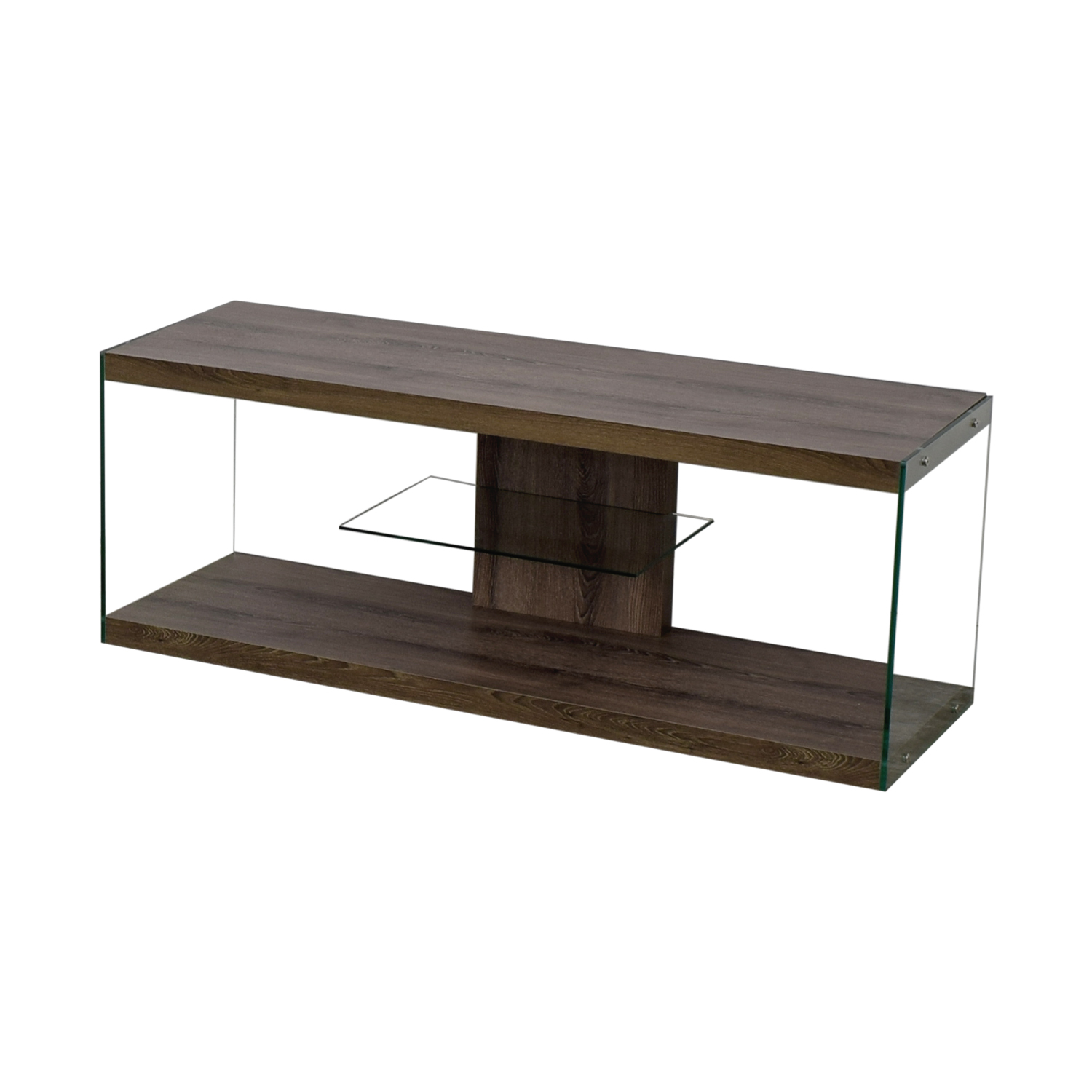 Monarch Specialties Monarch Specialties Wood and Metal TV Stand second hand