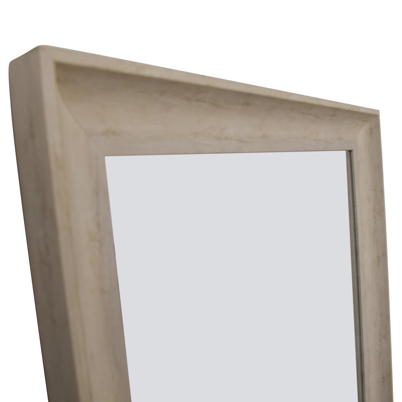 White Wooden Floor Mirror coupon