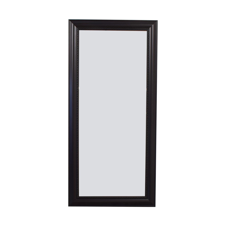 buy Brown Wooden Beaded Framed Floor Mirror  Mirrors