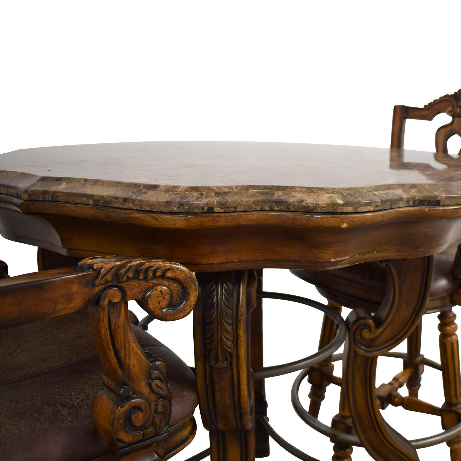 Ashley Furniture Ashley Furniture Faux Marble Pub Table and Chairs