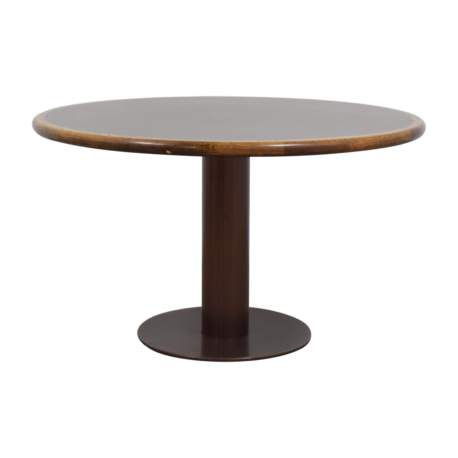 Round Wood & Metal Dining Table / Tables