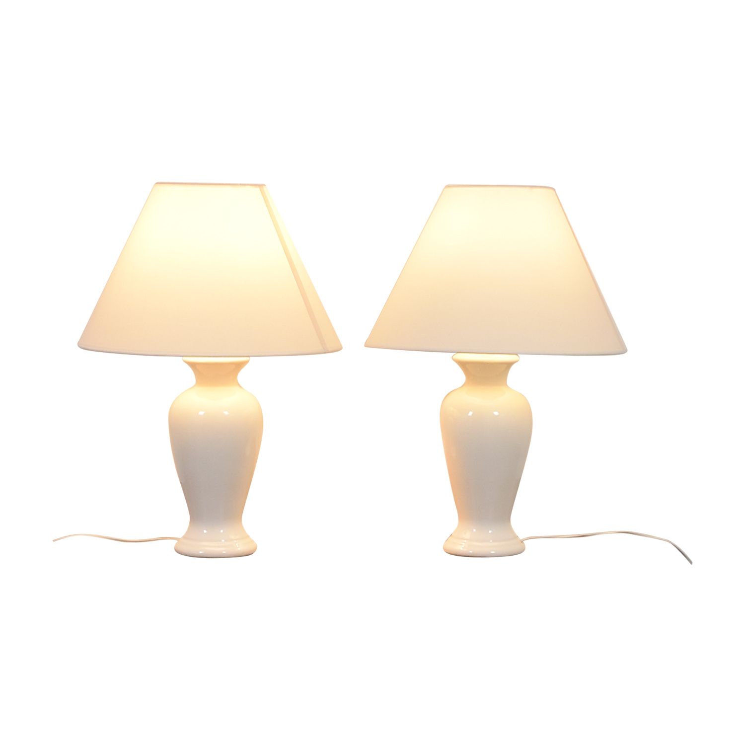 White Porcelain Lamps on sale
