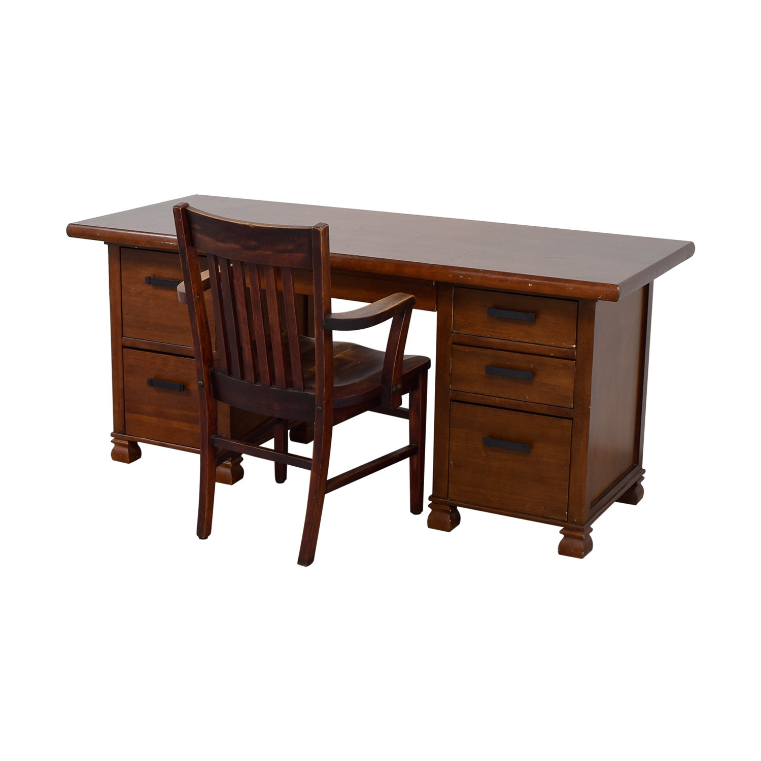 Pottery Barn Pottery Barn Wooden Cherry Desk with Chair for sale