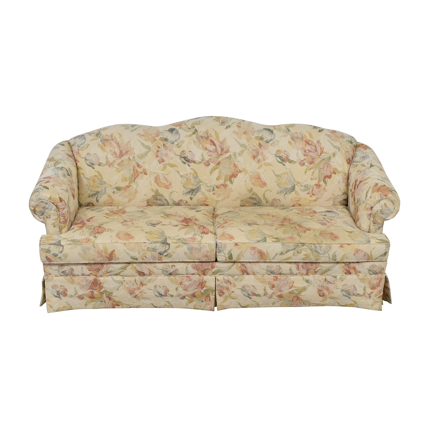 buy Ethan Allen Ethan Allen Multi-Colored Floral Upholstered Sofa online