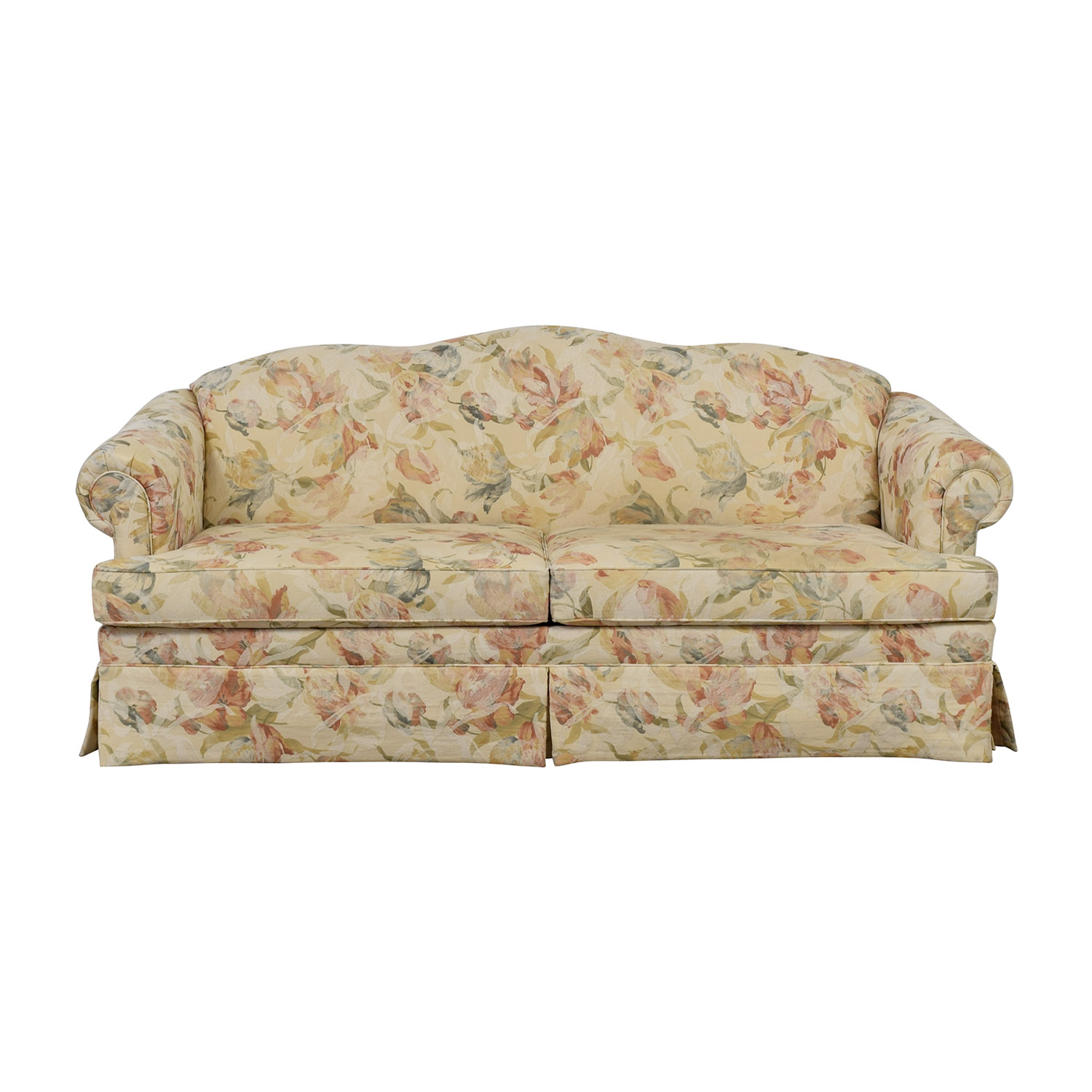 Ethan Allen Ethan Allen Multi-Colored Floral Upholstered Sofa second hand