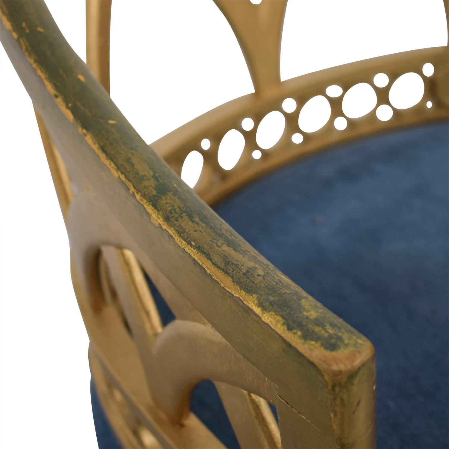 Regency Blue and Gold Accent Chairs / Chairs