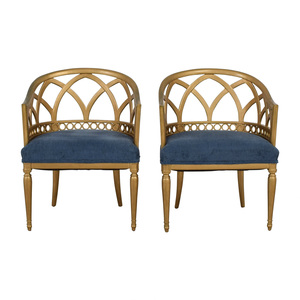 shop  Regency Blue and Gold Accent Chairs online