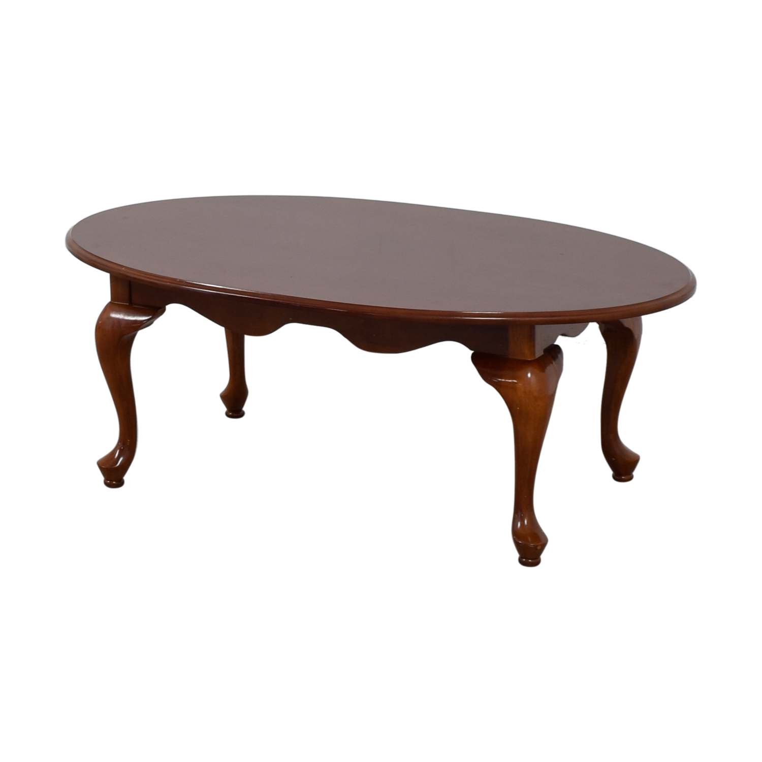 Wood Oval Coffee Table Made In China: Oval Dovetailed Wood Coffee Table / Tables