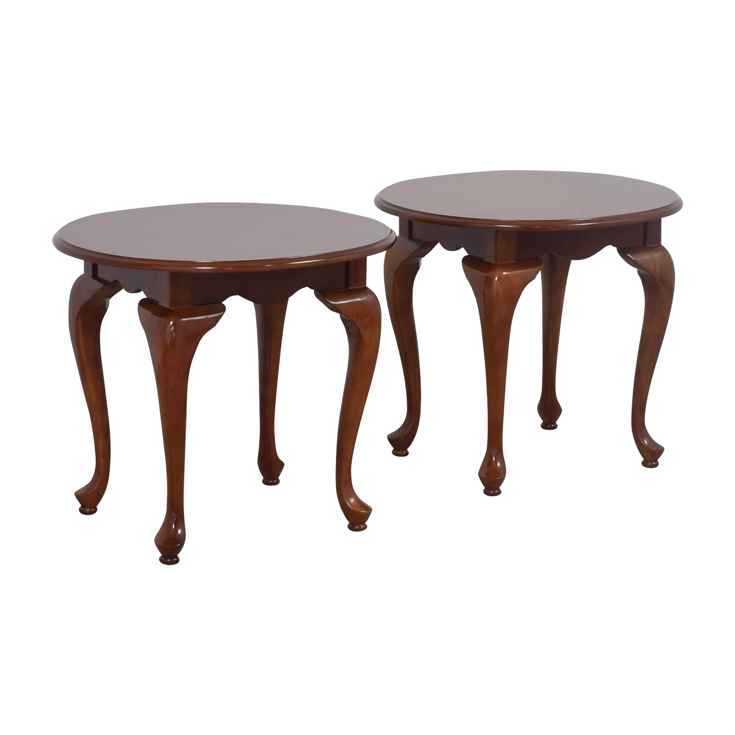 90 Off Oval Wood End Tables Tables