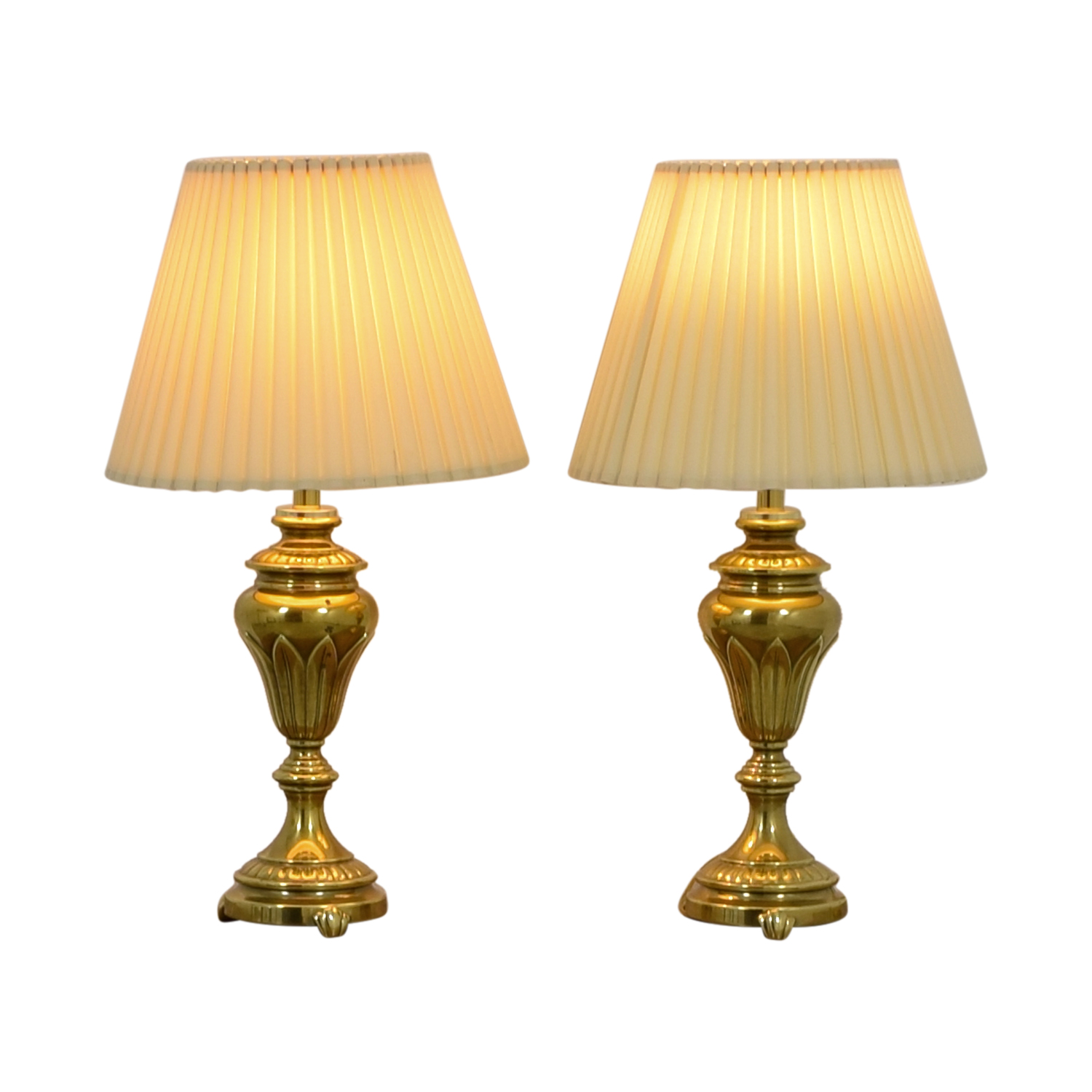 Vintage Gold Table Lamps second hand