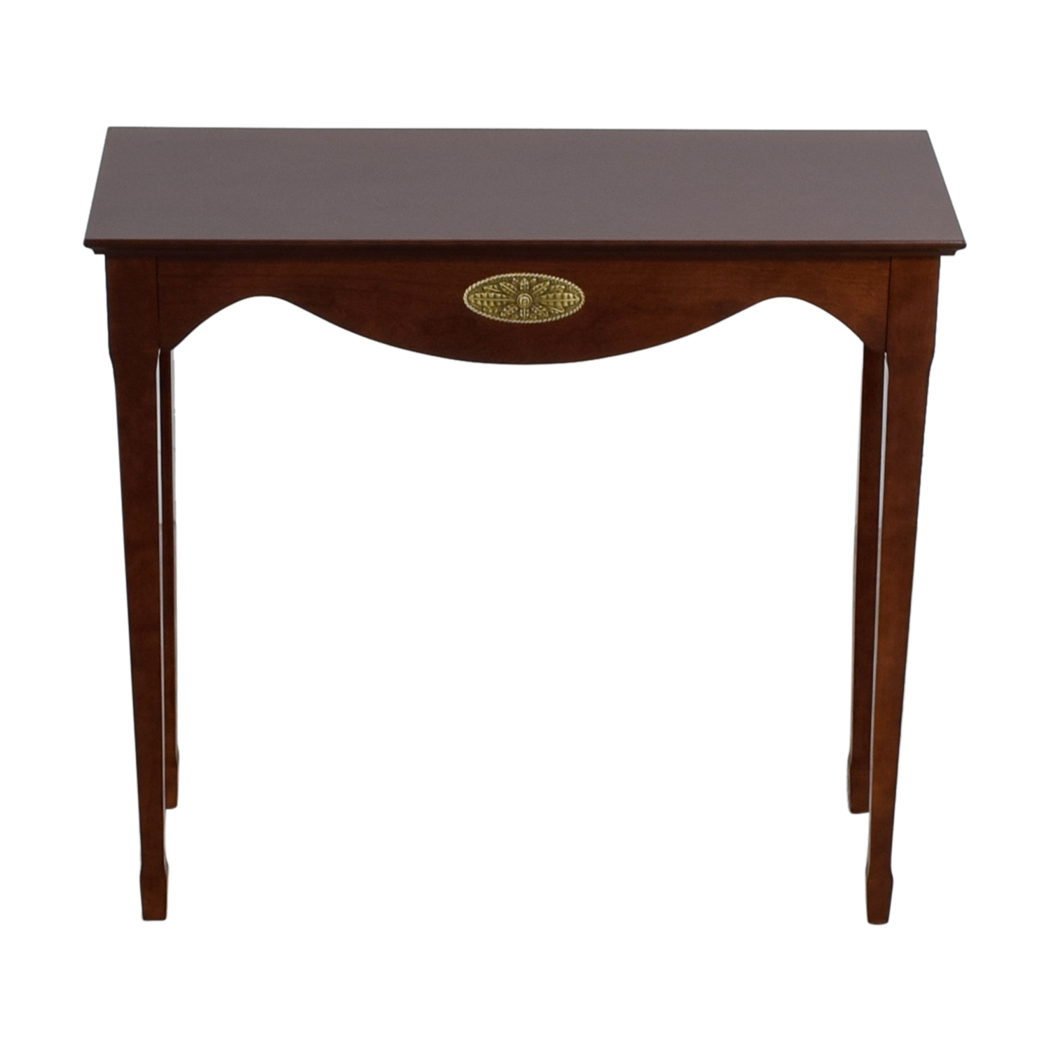 Wood Dovetail Sofa Console for sale